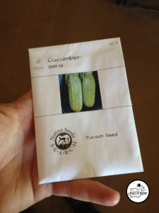 Local Tucson area-optimized pickling cucumber seed
